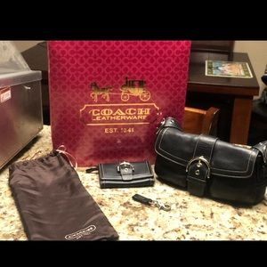 Authentic coach purse & wallet and key holder
